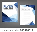 blue polygonal brochure... | Shutterstock .eps vector #285520817