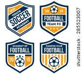football badge set | Shutterstock .eps vector #285523007