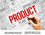 Small photo of PRODUCT word cloud, business concept