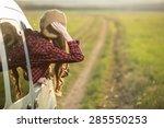 freedom car travel concept  ... | Shutterstock . vector #285550253