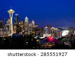 Seattle Skylines In Blue Hour ...