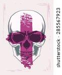 skull print for t shirt design | Shutterstock .eps vector #285567923