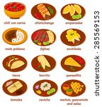 set of vector illustrations of  ... | Shutterstock .eps vector #285569153
