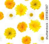 Yellow Flowers  Seamless Pattern