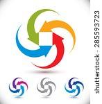 arrows abstract conceptual...   Shutterstock .eps vector #285593723