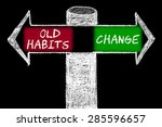 opposite arrows with old habits ... | Shutterstock . vector #285596657