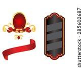 set of elegant vintage elements | Shutterstock .eps vector #285602687