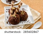 chocolate ice cream | Shutterstock . vector #285602867