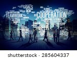 cooperation business coworker... | Shutterstock . vector #285604337