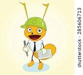 contractor ant mascot character ... | Shutterstock .eps vector #285606713