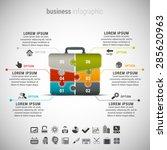 vector illustration of business ... | Shutterstock .eps vector #285620963