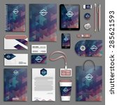 corporate identity template set.... | Shutterstock .eps vector #285621593