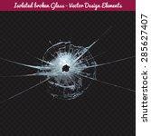 vector broken glass. isolated...   Shutterstock .eps vector #285627407