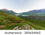 High Altitude Alpine Landscape...