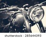 Vintage Motorbike  Focus On A...