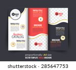 tri fold brochure design and... | Shutterstock .eps vector #285647753
