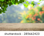 empty table covered with... | Shutterstock . vector #285662423