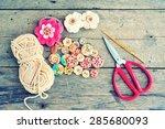 vintage of craft materials.   Shutterstock . vector #285680093
