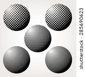 abstract dotted spheres vector... | Shutterstock .eps vector #285690623