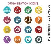 organization long shadow icons  ... | Shutterstock .eps vector #285695303