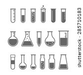 chemical test tube pictogram... | Shutterstock .eps vector #285710183