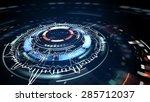 science fiction futuristic...   Shutterstock . vector #285712037