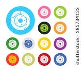 brake disc icon vector. | Shutterstock .eps vector #285734123