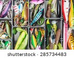fishing lures and accessories... | Shutterstock . vector #285734483