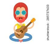 vector illustration of cartoon... | Shutterstock .eps vector #285737633