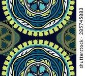 seamless pattern ethnic style.... | Shutterstock .eps vector #285745883