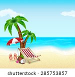 summer vacation background.... | Shutterstock .eps vector #285753857
