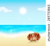 summer vacation background.... | Shutterstock .eps vector #285753863