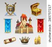 castle set   Shutterstock .eps vector #285757217