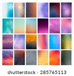 set abstract modern poligonal... | Shutterstock .eps vector #285765113