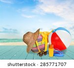vacations  beach  summer. | Shutterstock . vector #285771707