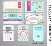 set of loyalty cards. beautiful ... | Shutterstock .eps vector #285777983