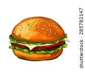 hamburger  vector illustration  ... | Shutterstock .eps vector #285782147