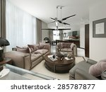 room studio in a modern design. ... | Shutterstock . vector #285787877