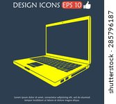 laptop icon illustration. flat... | Shutterstock .eps vector #285796187