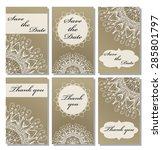 vintage vector card templates.... | Shutterstock .eps vector #285801797