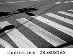 Nobody On Crosswalk In Black...