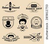 vector set of vintage hipster... | Shutterstock .eps vector #285812753