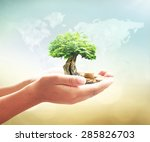 world environment day concept ... | Shutterstock . vector #285826703