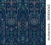 seamless ethnic pattern with... | Shutterstock .eps vector #285834263