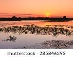 a beautiful sunrise in the... | Shutterstock . vector #285846293