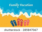 summer holidays vector... | Shutterstock .eps vector #285847067