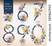 vector illustration of floral... | Shutterstock .eps vector #285862943