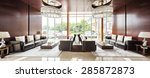 luxury hotel lobby and furniture | Shutterstock . vector #285872873