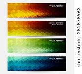 vector banners set. does not... | Shutterstock .eps vector #285878963