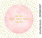pink watercolor circle paper... | Shutterstock .eps vector #285884387
